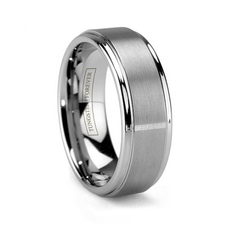 Mattino-Brushed-Tungsten-Wedding-Band-For-Men
