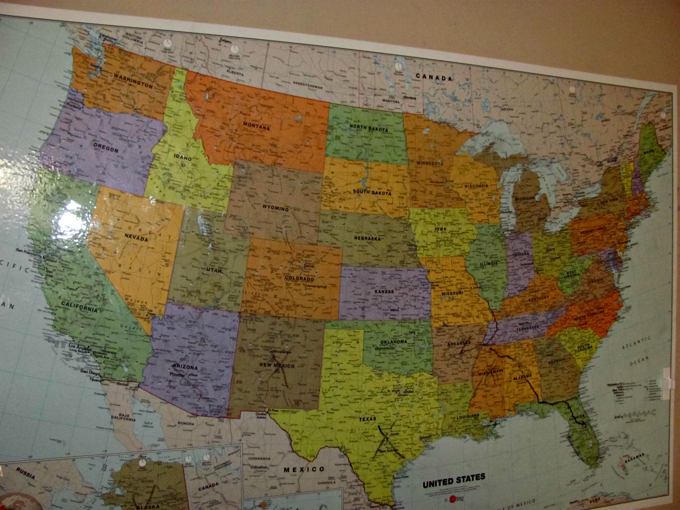 Magnetic Dry Erase United States USA Whiteboard Map Erase Map Of