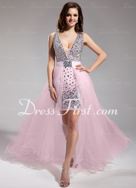 Chiffon Tulle Prom Dress