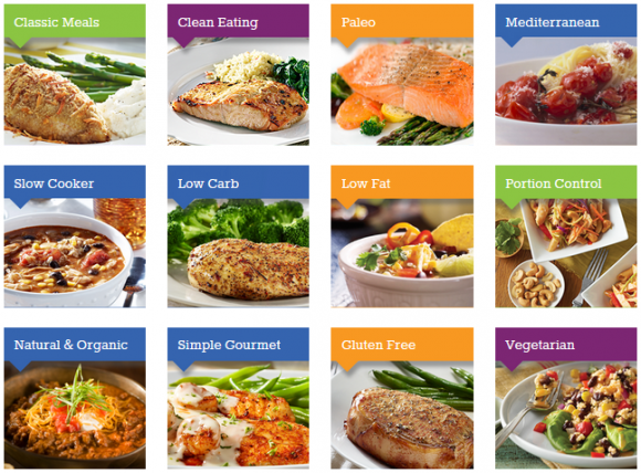 eMeals Meal options