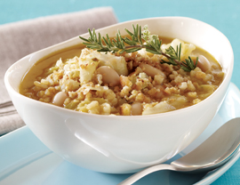 http://www.vegetariantimes.com/recipe/white-bean-and-arborio-rice-soup/