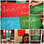 DIY Christmas Canvas Art
