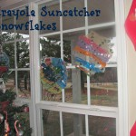 Crayola Suncatcher Snowflakes Craft
