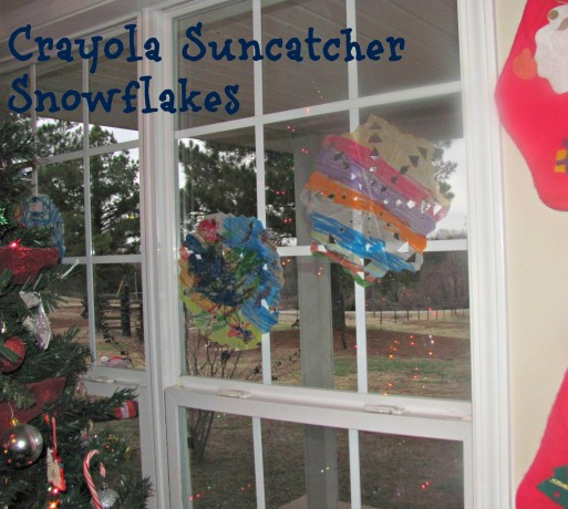 Crayola Suncatcher Snowflake Craft