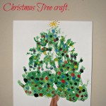 Hand and foot print Christmas tree craft