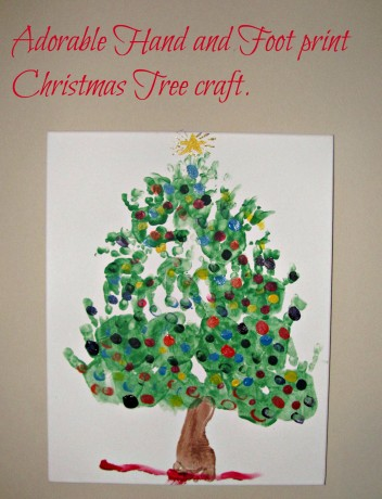 Hand and Foot print Christmas Tree