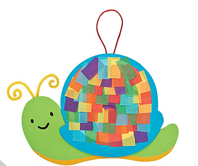 snail tissue paper craft