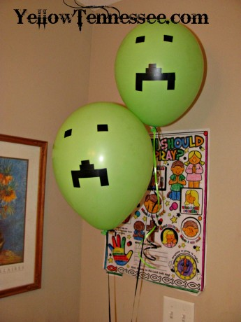 DIY Creeper ballons