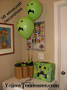 DIY Minecraft Decorations