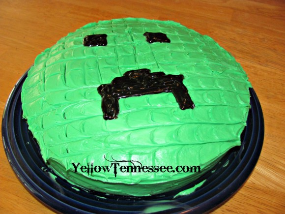 DIY Minecraft Creeper Cake
