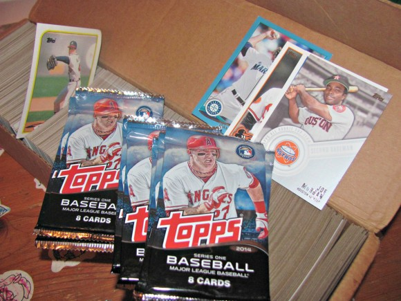 The old and the new baseball cards.