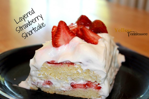 Layered Strawberry Shortcake Icebox Cake YellowTennessee