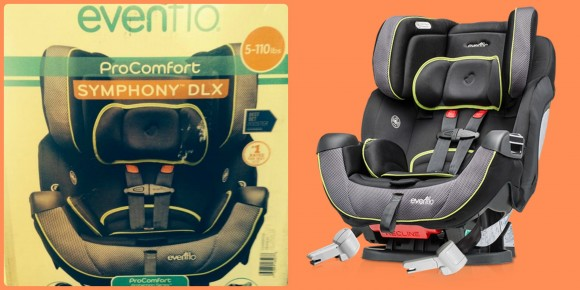 Evenflo ProComfort Symphony DLX car seat collage