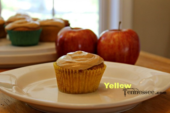 Carmel Apple Cupcakes