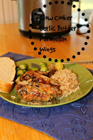 Slow cooker garlic butter parmesan wings