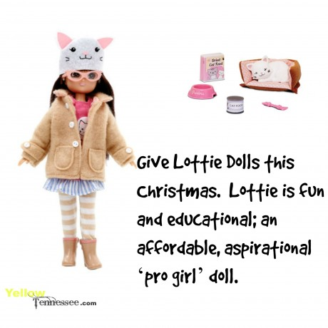 Lottie is fun and educational; an affordable, aspirational 'pro girl' doll. Pefect for Christmas