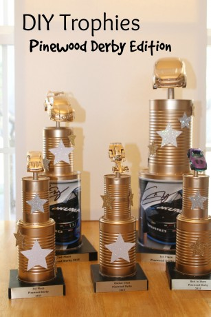 DIY Pinewood Derby Trophies