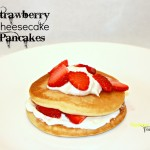 Breakfast for Dinner, Strawberry Cheesecake Pancake Recipe #mykrusteaz #breakfastnight