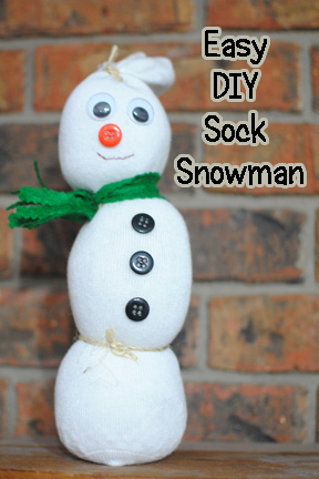 Sock Snowman Diy Crafts Made By The Thorns Easy Craft Yellow Tennessee