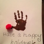 Rudolph the Red Nose Handprint