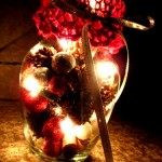 Scented Christmas Light Jars