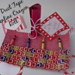 Valentine Craft Ideas! Duct Tape Crayon Roll Valentine Craft