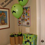 DIY Decorations for a Minecraft Party