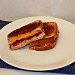 Grilled Cheese with Ham and Raspberries